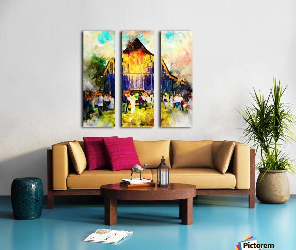 Jackson Hole Barn Split Canvas print