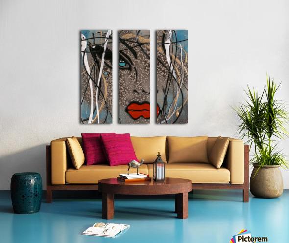 3094 - OD steal bleu Split Canvas print