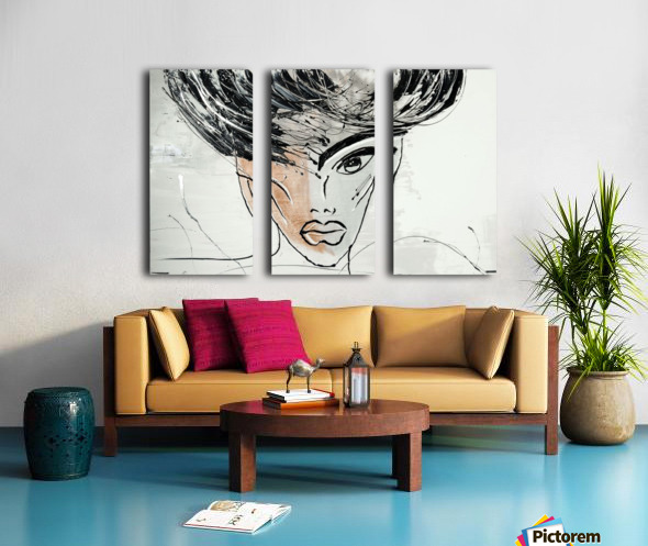 3475 Split Canvas print