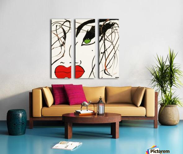 3280 Split Canvas print
