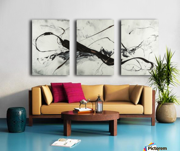 2942 made of gold Split Canvas print