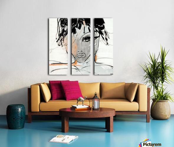 3457 Split Canvas print