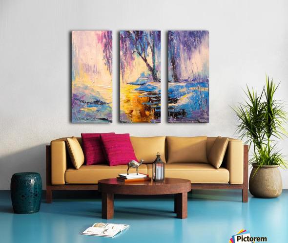 Winter Split Canvas print