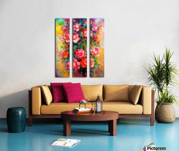 Roses Split Canvas print