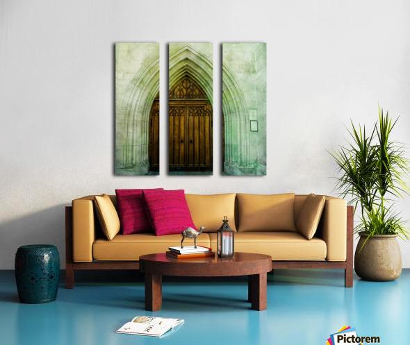 ZURICH CATHEDRAL DOOR Split Canvas print