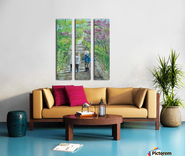 Affinity for Fall Split Canvas print