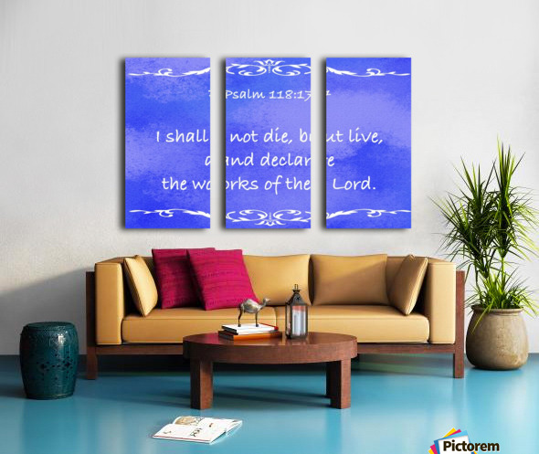 Psalm 118 17 3BL Split Canvas print