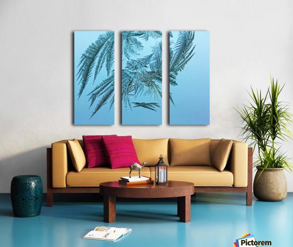 Frosty Blue Split Canvas print