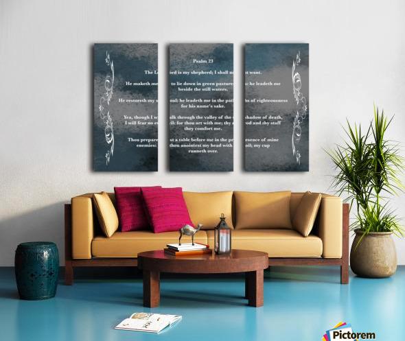 Psalm 23 4CH Split Canvas print