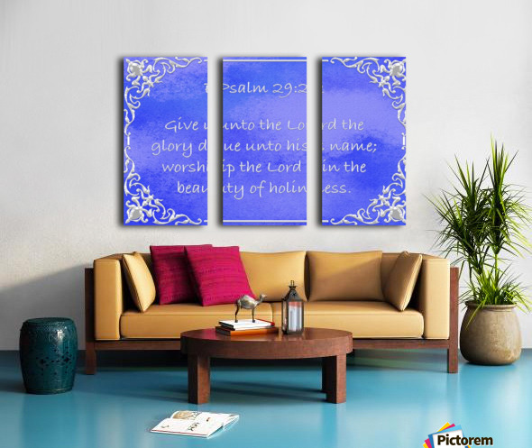 Psalm 29 2 1BL Split Canvas print