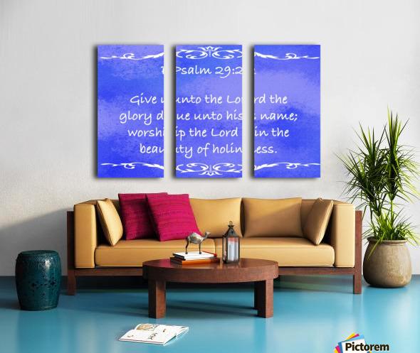 Psalm 29 2 3BL Split Canvas print