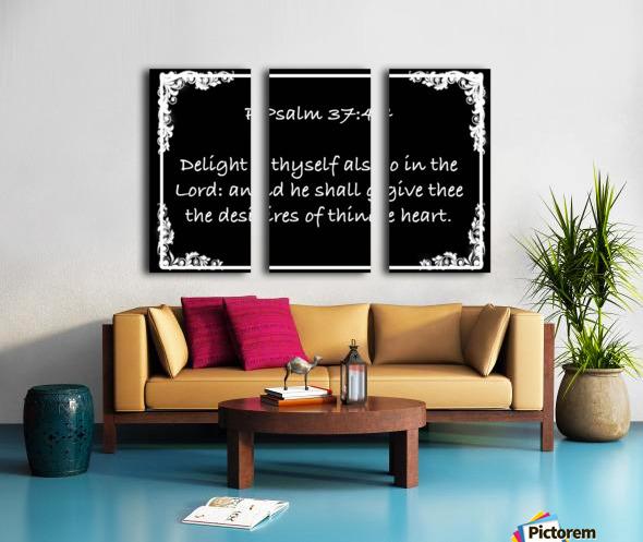 Psalm 37 4 8BW Split Canvas print