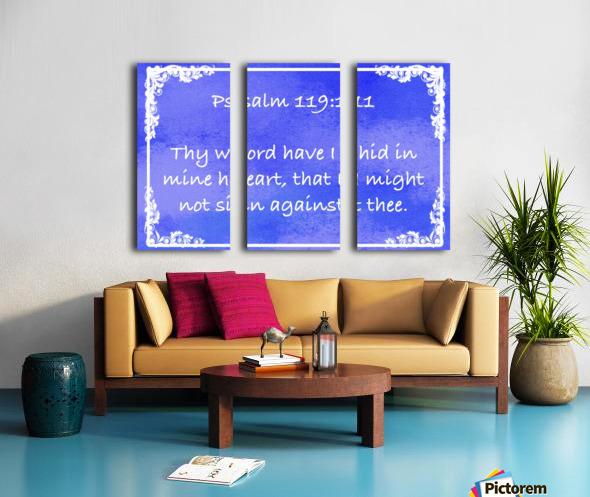 Psalm 119 11 8BL Split Canvas print