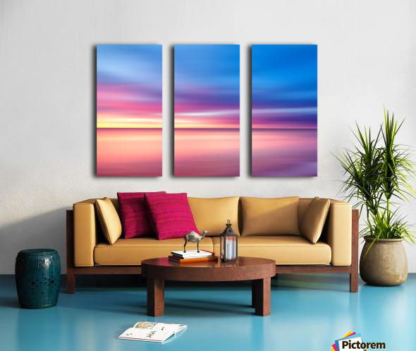 Abstract Sunset V Split Canvas print