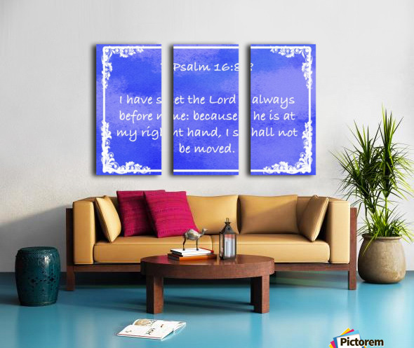 Psalm 16 8 9BL Split Canvas print