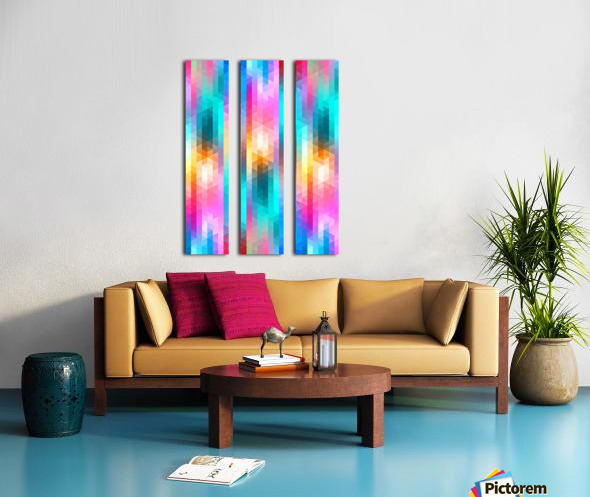 VIVID PATTERN V Split Canvas print