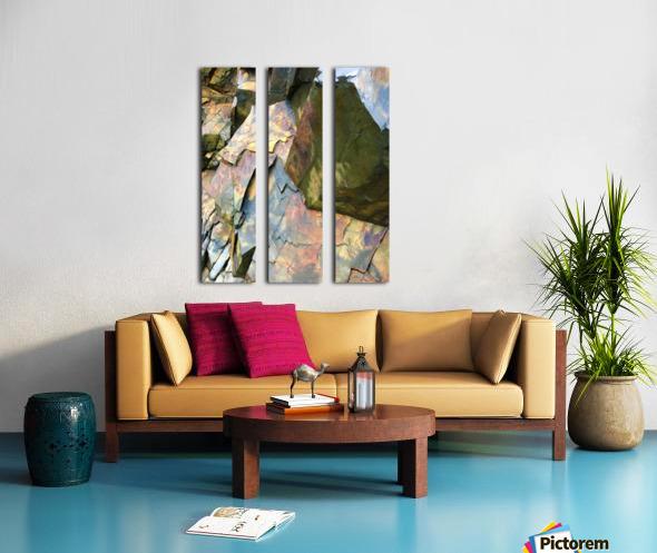 Colorful Slate Split Canvas print