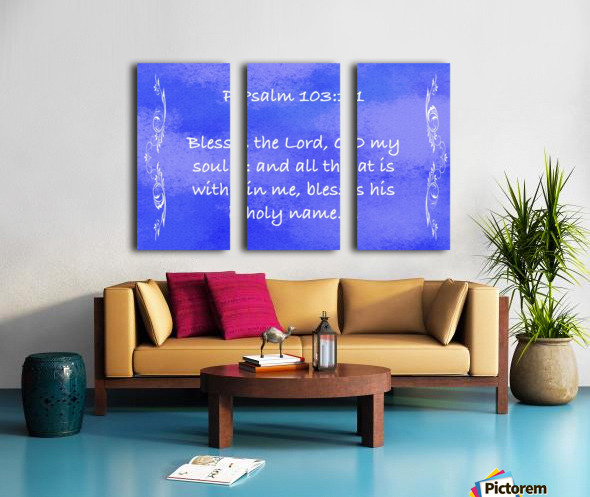 Psalm 103 1 4BL Split Canvas print