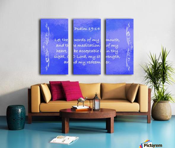 Psalm 19 14 4BL Split Canvas print