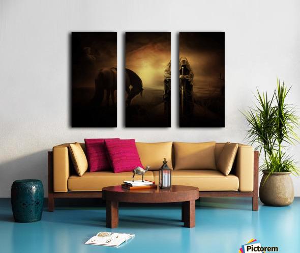 knight with light Split Canvas print