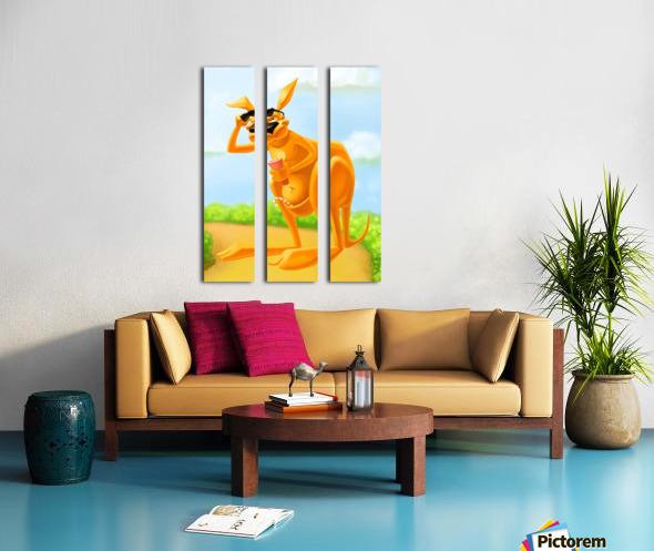 Cute Kangaroo Split Canvas print