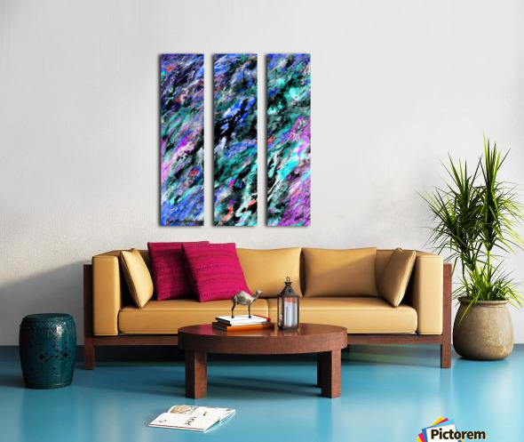 Subliminal Split Canvas print