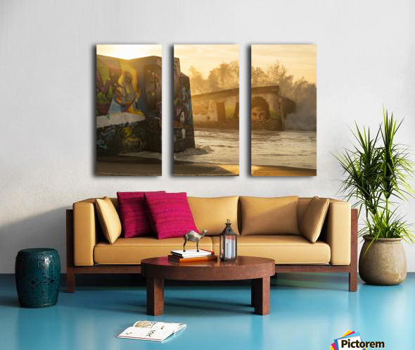 GRAFFITI RUSH  Split Canvas print