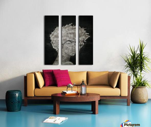 Steel Heart Split Canvas print