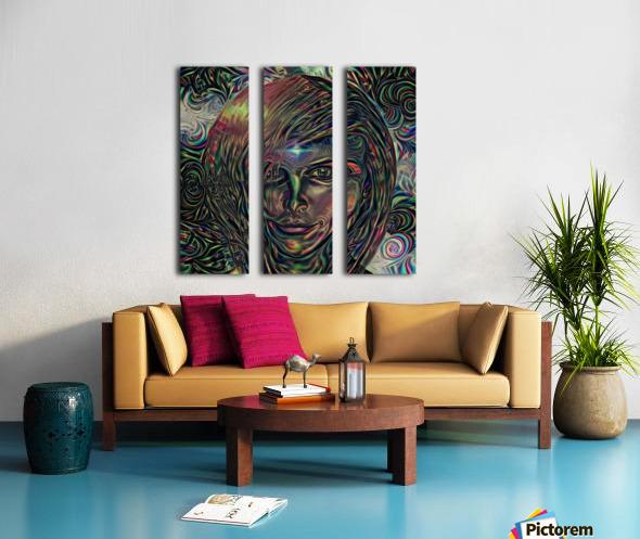 Womans Face Split Canvas print