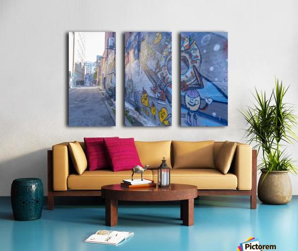 Torontos Graffiti Alley 50 Split Canvas print