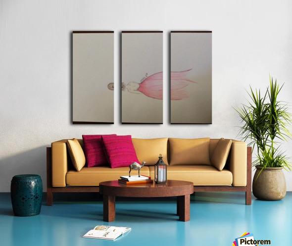 Chiffron Split Canvas print