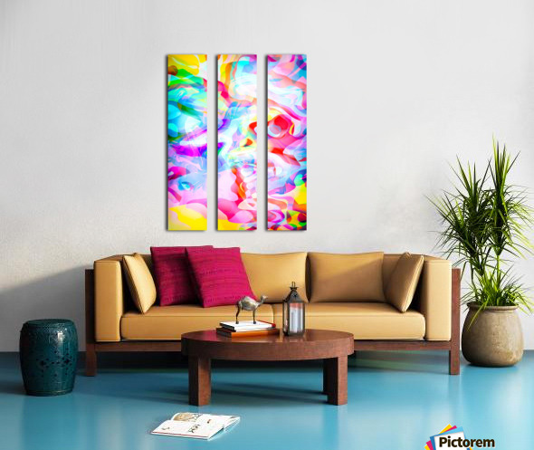 VIVID Abstraction I Split Canvas print