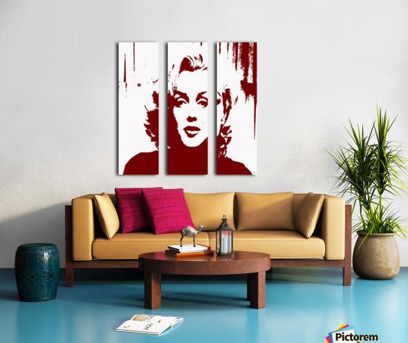 Sadness of Marilyn Monroe Split Canvas print