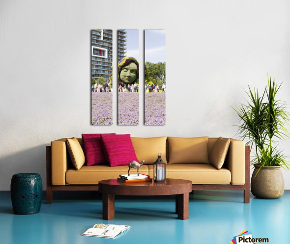 Mother Earth The Legend of Aataentsic with some of her creatures 6 Split Canvas print