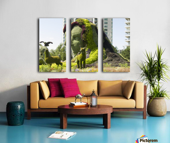 Mother Earth The Legend of Aataentsic with some of her creatures 4 Split Canvas print