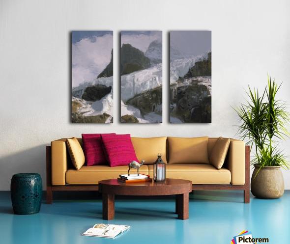 Athabaska Glacier Digital Painting 52 70 200px Split Canvas print
