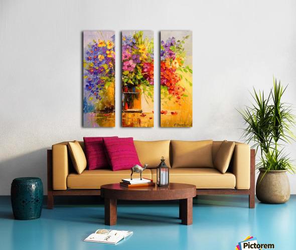 A bouquet of wild flowers Split Canvas print