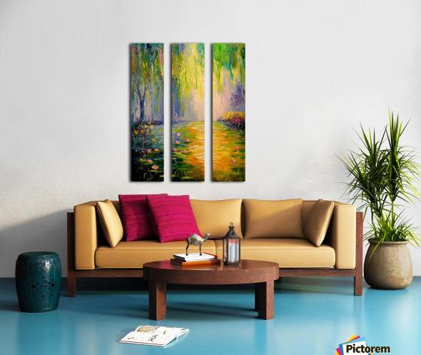 Fabulous pond Split Canvas print