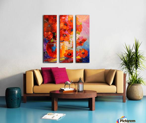 A bouquet of poppies Split Canvas print