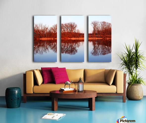 Spring Sunset Glow I Split Canvas print