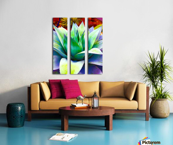 Succulent Dewdrop Split Canvas print