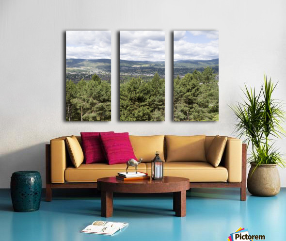 A view of Okanagan Lake and part of Kelowna from near the top of Mission Hill Road 3 Split Canvas print