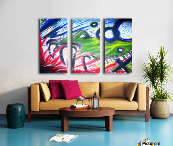 Paint Monster Split Canvas print