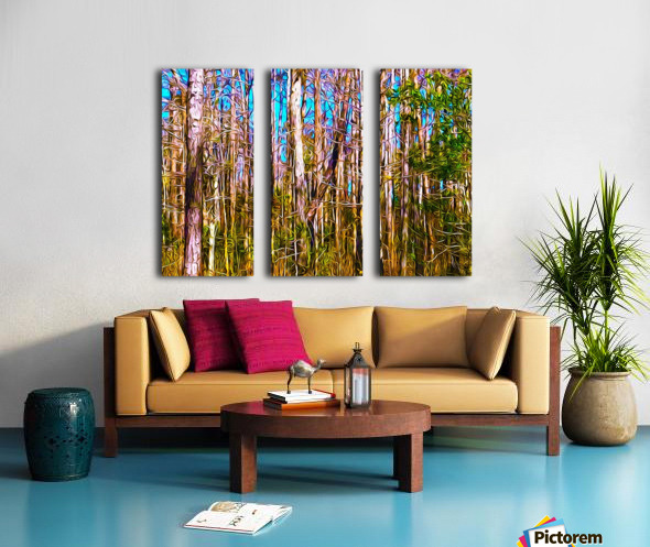 Florida Trees Split Canvas print