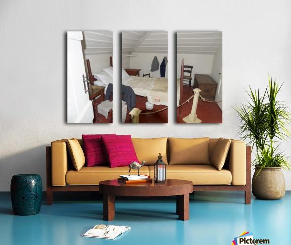 Bedroom in the Lightkeepers House 2 Split Canvas print