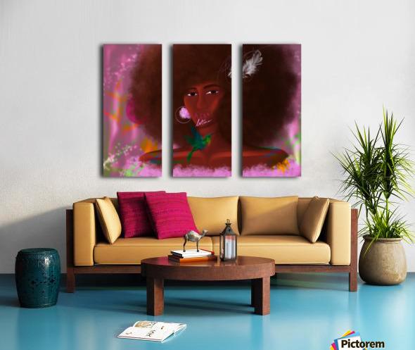 Afro Latina Split Canvas print