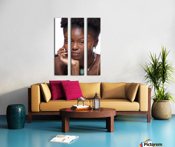 Black Woman Headshot Split Canvas print