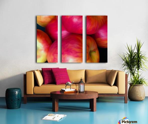 A Slice Of Apples Split Canvas print