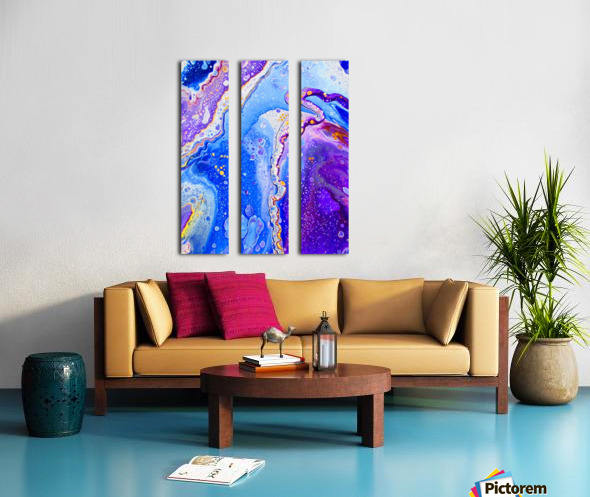 Royal Bliss Split Canvas print