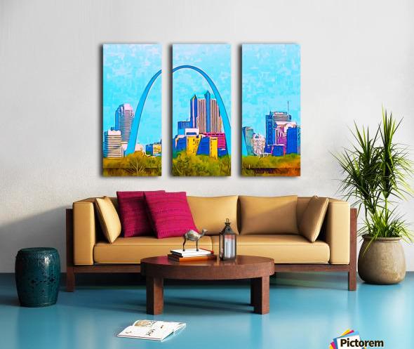 Saint Louis Arch Split Canvas print